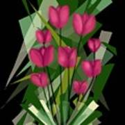 Sharp Blades Of Tulips  Art Print
