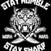 Sharp Tiger Art Print