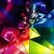 Shattered Rainbow Triangles Optical Art Art Print