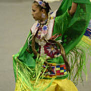 Pow Wow Shawl Dancer 3 Art Print