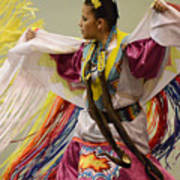 Pow Wow Shawl Dancer 4 Art Print