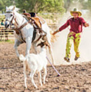 Shawnee Sagers Goat Roping Competition Art Print