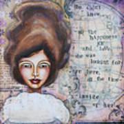 She Didn't Know - Inspirational Spiritual Mixed Media Art Art Print