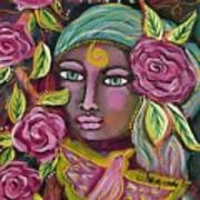 She Grows Beauty Art Print