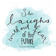 She Laughs Art Print