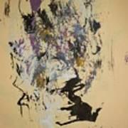 She Walks With A Purple Unicorn Art Print