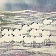 Sheep In Winter Art Print