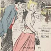 Sheet Music Dans Lxviiieme By Achille Bloch And Louis Byrec, Performed By Farville And Reschal Theo Art Print