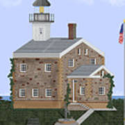 Sheffield Island Lighthouse Connecticut Art Print