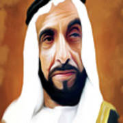 Sheikh Zayed Art Print