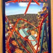 Sheikra Ride Poster 2 Art Print
