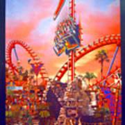Sheikra Ride Poster 3 Art Print