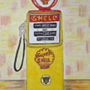 Shell Gas Pump Art Print