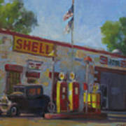 Shell Station Brown County Art Print