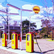 Shell Station Art Print