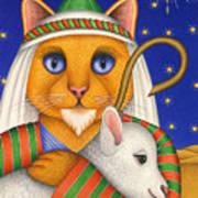 Shepherd Cat Art Print