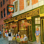 Sherlock Holmes Restaurant Art Print
