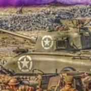 Sherman Attack Art Print
