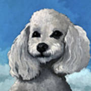 Sherman - Poodle Pet Portrait Art Print