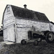 Sherry's Barn Art Print by Bryan Baumeister