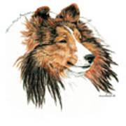 Shetland Sheepdog, Sheltie Sable Art Print