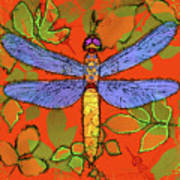 Shining Dragonfly Art Print by Mary Ogle