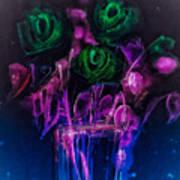 Shining Flowers  Art Print