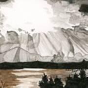 Shining Through The Storm Art Print