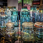 Shiny Glass Jars Art Print