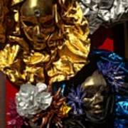 Shiny Masks in Venice Art Print