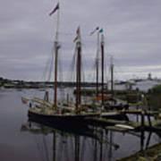 Ship At Dock. Art Print