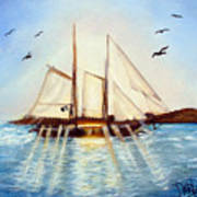 Ship At Mallory Square Art Print