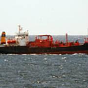 Ship Leaving Galveston Art Print