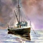 Ship Stormy Weather Art Print