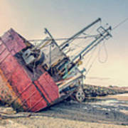Shipwreck Provincetown Breakwater Art Print