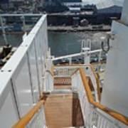 Shipboard Stairways Art Print