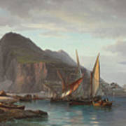 Shipping Off Gibraltar, 1880 Art Print
