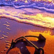 Ships Anchor On Beach Art Print