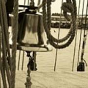 Ship's Bell Sepia Art Print