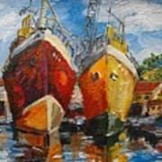 Ships In Repair Art Print