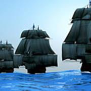 Ships In Sail Art Print