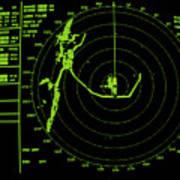 Ship's Radar Screen While In Port Art Print