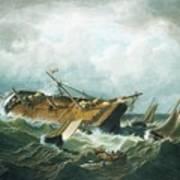 Shipwreck Off Nantucket Art Print