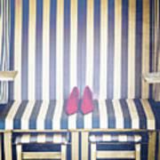 Shoes In A Beach Chair Art Print