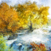 Shohola Falls Autumn Art Print