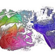 Shoot For The Sky Cool Rainbow 3 Dimensional Art Print