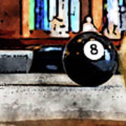 Shooting For The Eight Ball Art Print