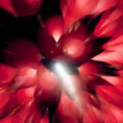 Shooting Star In Red K861 Art Print
