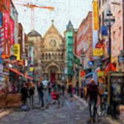 Shopping In Dublin Art Print