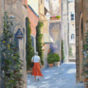 Shopping In Orvieto Art Print